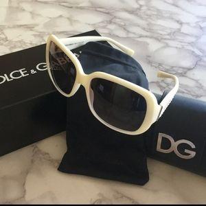 Dolce & Gabanna White Frame Sunglasses